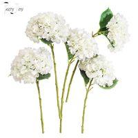 Decorative Flowers & Wreaths PARTY JOY 5Pcs Silk Hydrangea Branch Artificial Bridal Bouquet For Wedding Office Garden Home Crafts DIY INS De