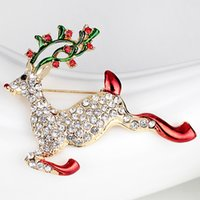 Xmas Diamond Pins Christmas Jewelry Christmas-Brooches Corsage Christmas-Snowman Gift Bell Boots Hat Tree Collar Sleigh Christmas-Decorations Mix Adornment