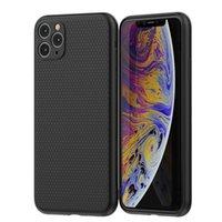 Geri Durumlarda Yumuşak TPU Tampon Kapak iphone 12 11 Pro Max Mat Siyah Samsung S20 S21 Artı Ultra Darbeye Darbeye Kabuk
