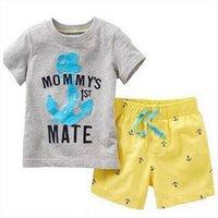 Летние детские одежда детские мальчики девочек с коротким рукавом костюм хлопок пижамы детские ночные пижамы бытовые