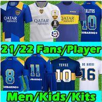 2022 2021 Boca Juniors Soccer Jersey الصفحة الرئيسية Boca Juniors Gago Osvaldo Carlitos Perez دي روسي تيفيز بافون JRS الرجال الاطفال كرة القدم قميص الأعلى