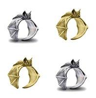 New Vintage Bat Finger Rings Fashion Retro Style Adjustable Bats Ring For Women Men Jewellery Gift