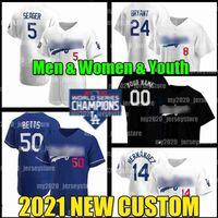 Mens Youth Women 7 Julio Urias Jersey 42 Jackie Robinson 50 Mookie Betts 로스 앤젤레스 27 Trevor Bauer Manny Machado Dodgers Hyun-Jin Ryu