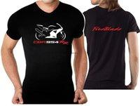 T-shirts Casual T-tröja för cykel CBR 954 RR Fireblade Tshirt 954RR Motorcykel Moto