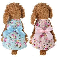 Hundebekleidung Nette Blumenbogen Prinzessin Kleider Brautkleid Für kleine Hunde Sommer Chihuahua Mops Kleidung Welpen Haustierbedarf