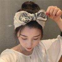 Warm Warmer Ear Head Head de malha Headband Bow arco oco out headwear para mulheres menina europeia banda de turbante cabeça de urdidura pêlos de pêlos