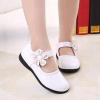 Sandals For Children Kid Baby Girls Flower Leather Shoes Single Soft Dance Princess Shoe Girl Zapatos Niña