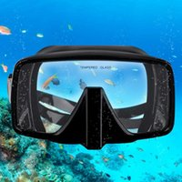 Pool & Accessories Diving Mirror Full Silicone Deep Snorkeling Plastic Packaging One-piece Salvage Mask