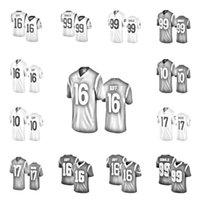2021 Football Jerseys 16 Jared Goff 17 Robert Woods 99 Aaron Donald