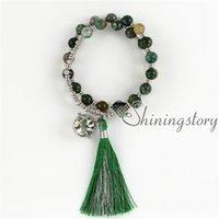 oil tibetan prayer beads essential tassel diffuser locket jewelry mala bracelet yoga