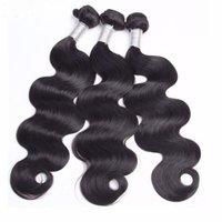 Бразильская волна тела волос 3 пакета с кружевами фронтальные замыкания швейцарские кружева 100% человеческие ременные волосы натуральные волосы