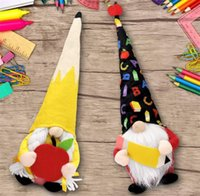 Teacher Gift Party Supplies Gnomes Back to Apple Pencil Plush Dolls from Students End of The School Year Decor graduation 1892 V2