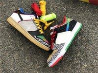 2021 Аутентичные Dunk SB Низкий Какой спортивная обувь P-стержень 3M Отражающие многоцветные коньки Обувь мужчин Женщины Спортивные кроссовки с коробкой