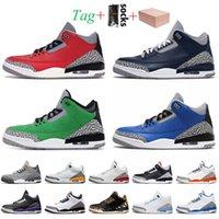 nike air jordan 3 3s jordan retro 3 stock x Sneaker Con caja para hombre zapatos de baloncesto 3s Jumpman 3 Red Cemento Retro Georgetown Tinker Varsity Royal UP Láser
