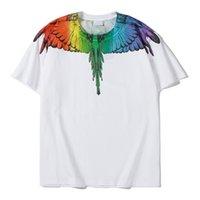 고품질의 코튼 티셔츠 여름, 2021, 유럽의 미국 반팔 티셔츠 패션 및 캐주얼 인쇄 된 M0175의 무료 운송