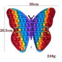 Big size 30cm pop it popit Rainbow Butterfly Push Bubble Fidget Toys Stress Relief Toy Autism Needs HHD7736