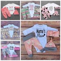 Baby ins новогодняя одежда наборы рождественской одежды xmas tops футболки лосью ромпер легинг
