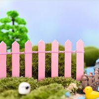 Bahçe Süslemeleri 20 adet Mini Çit DIY Peyzaj Peri Figürinler Minyatür Aksesuarları El Yapımı El Sanatları Ahşap Malzemeleri