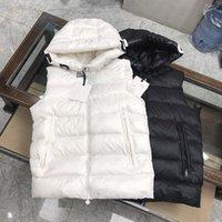 Мужские дизайнер роскошные жилеты одежда одежда Франция бренд зима новый стиль жилет с капюшоном и пуховик для модного жилета
