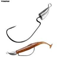 Thkfish Jig Head Angelhaken 5G 7G 10G 14G Blei Kugelkopfhaken Weedless Offset Wurmhaken für Karpfenfischen