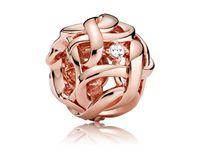 Convient aux bracelets Pandora 20pcs Gold Gold Hollow Hollow Hollow Symbole Charms Beads Perles De Charmes Silver Perle Pour Femmes Collier Européen Collier Européen Bijoux Accessoire