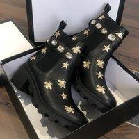 2021 Damen Designer Stiefel Martin Desert Boot Flamingos Liebe Pfeil 100% Echte Ledermedaille Grob Rutschfeste Winterschuhe Größe US5-10