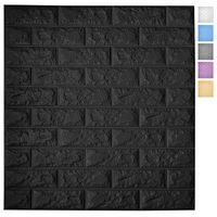 Art3D 5-pack descascam e painéis de papel de parede 3D para decoração de parede interior espuma auto-adesiva papéis de parede de tijolo em preto, cobre 29 sq.ft