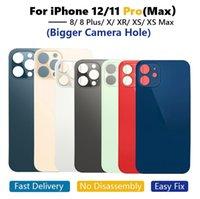OEM Big Hole Back Glass Housings per iPhone 8 8Plus x XR XS 11 12 Pro Custodia posteriore della batteria max