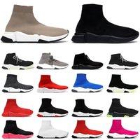새로운 도착 양말 신발 남성 여성 플랫폼 디자이너 스니커즈 베이지 올 블랙 그래피티 양말 부티 캐주얼 신발 럭셔리 플랫 트레이너