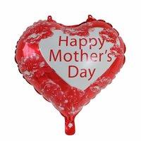 해피 어머니의 날 풍선 18 인치 호일 사랑 모양의 어머니의 날 풍선 영어 스페인어 mylar 헬륨 풍선 1359 v2