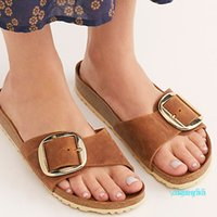 Clogs Slides Slippers Women Indoor Outdoor Summer 2021 Girl Beach Holiday PU Leather Flat Heel Sandals Shoes 6181