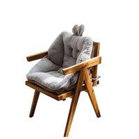 Chair Covers Cartoon Short Plush Office Sofa Seat Cushion Super Soft Stuffed Sitting Pad Home Computer Mattress