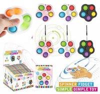 Fidificação de dedo fidificador brinquedos pop push flip girando fidgets brinquedo