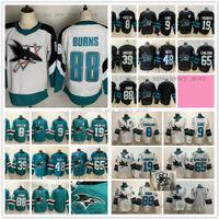 2021 Reverse Retro Ice Hockey 88 Brent Burns Jerseys 65 Erik Karlsson 48 Tomas Hertl 39 Logan Couture 19 Joe Thornton 9 Evander Kane 8 Pavelski Jersey