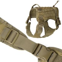 Dog Apparel Tactical Service Vest Water Resistant Comfortable Military Harness Suit With Kettle Set Sundries Bags And Commute