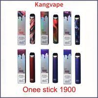 Kang Vape Onee Stick 1900 Buffs Kit de Cigarros Eletrônicos 1100mAh Alphaa 2200 6.2ml Cartucho POD Bang XXL Barra Air Max Cidade Izi XL Diamante FM Hyd King Mk Plus Flum Geek