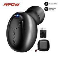 TWS Bluetooth Kulaklık EM16 Tek İş 10 H Playtime 5.0 Kablosuz Kulaklık CVC 8.0 Sürücü Telefonu için Mic ile Gürültü İptal