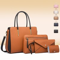 Bags2021 New Color Matching Women's Luxurys Portable One Shoulder Messenger Mother Three Piece