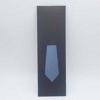 Cravate Boîte-cadeau Noir Sac Simple Envelope Sac avec PVC Visual Fenêtre Écharpe Éclairages de détail Emballage E0461