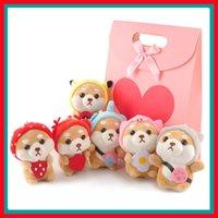 Creativo Lindo Akita Perro Shiba Inu Peluche Llaveros Perros Amantes Bolsa de dibujos animados Ornamentos Colgantes Mujer