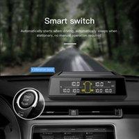 6 Pcs Truck External Tyre Tire Sensor TPMS Smart Realtime LCD Car Tyre Detector Tire Temperature Pressure Alarm For Truck RV Bus