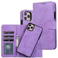 Cubiertas de cuero retro Cajas para teléfono para iPhone 12 11 Pro Max XR XS SE2 7 8 PLUS Caja de la cartera Cáscara protectora del teléfono celular