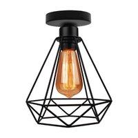 Ceiling Lights Modern Nordic Black Wrought Cage Light Iron E27 LED Lamps For Kitchen Living Room Bedroom Restaurant Cafe El