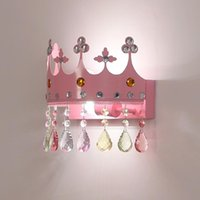 Children's Room Chandelier Girl Modern Simple Princess Lamp Crystal Ins Net Red Warm And Romantic Bedroom Wall