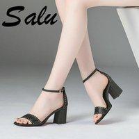 Salu Gladiator Frauen Sandalen High Heels Casual Prom Schuhe Frau Mode Sommer Damen Frau