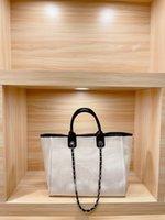 2021 büyük kapasiteli kadın plaj çantası keten malzeme alışveriş torbaları kalın çanta