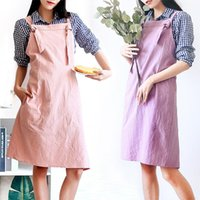 Cute Girls Apron Cotton Women Adjustable Kitchen Baking Cooking Aprons Home Diy Handwork Antifouling Protection Clothing