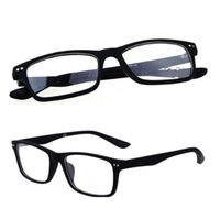 R8145 Klassisk märke Glasögon Ramar Färgglada Plast Optiska Glasögon Vintage Eyewear Modell Svart Färg