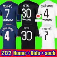 Mbappe Messi Soccer Jersyys Hakimi Sergio Ramos 21 22 Maillots de Camicia da calcio 2021 2022 Icardi Men Kit Kit Uniformi Infants Maillot piede