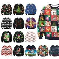 Funny Christmas Santa Printed men Womens Sweatshirt Crewneck Ugly Sweat Shirt Clothing 3d Graphics Autumn Winter